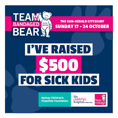 City2Surf Team Bandaged Bear $500 raised