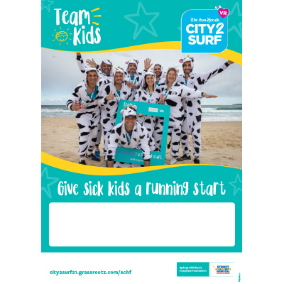 City2Surf 2021 Team Kids Empty Belly Poster