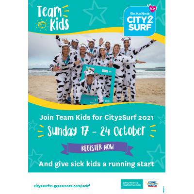 City2Surf 2021 Team Kids Generic Poster