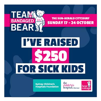 City2Surf Team Bandaged Bear $250 raised