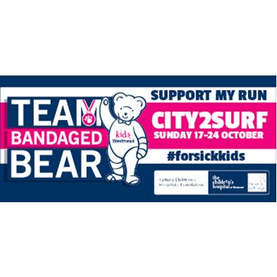 City2Surf Team Bandaged Bear Email Signature