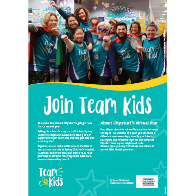 City2Surf 2021 Team Kids Fundraising Guide
