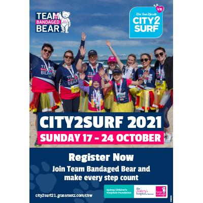 City2Surf 2021 Team Bandaged Bear Generic Poster